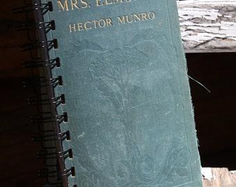 Journal, Vintage Book, Mrs. Elmsley, Spiral Bound Journal, Old Book Journal
