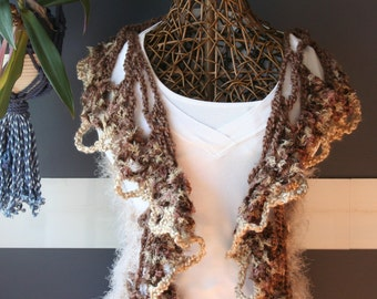 Crochet Festival Vest, Knit Sweater Vest,Crochet Mandala,Chunky Knit,Festival Clothing,Womens Vest,Boho,Gypsy,Hippie,Brown,Tan,One Size