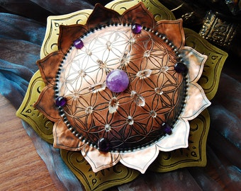 High frequency Crystal Grid Big lotus flower sacred geomety Mandala