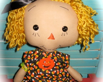 Use Coupon 20% Off Primitive Annie Ann Raggedy Halloween Doll OOAK