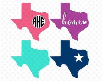 Texas Svg, Texas Svg Files, Silhouette Svg, Southern Svg, Texas Monogram Svg, Home Svg, Cricut Cut Files, Studio Cut Files