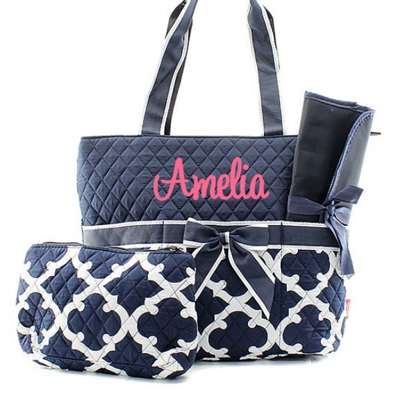 monogrammed diaper bags personalized diaper bags navy. Black Bedroom Furniture Sets. Home Design Ideas