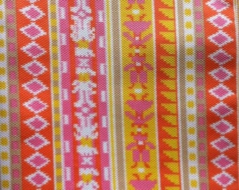 3 Yards Orange Yellow Pink and White Print Pattern 38 Inches Wide Great for Girls Dress Romper Jumpsuit Fresh Colours for Bedroom Decor