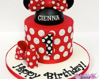 Minnie Mouse Cake Decorations: Everything You Need To Decorate This Minnie Mouse Birthday Cake