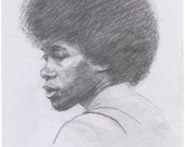 "Original Drawing - ""Joan Armatrading"" by Peter Mack"