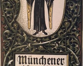 Munich Calendar 1908 Otto Hupp Heraldic Crest Coat of Arms