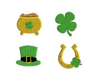 Mini St Patricks Day Machine Embroidery Designs-INSTANT DOWNLOAD