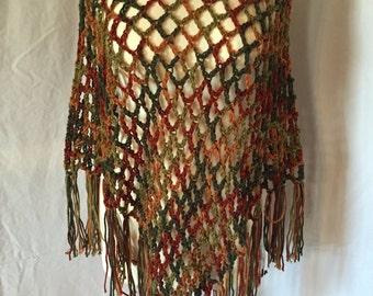 Handmade Crochet Original Design Poncho