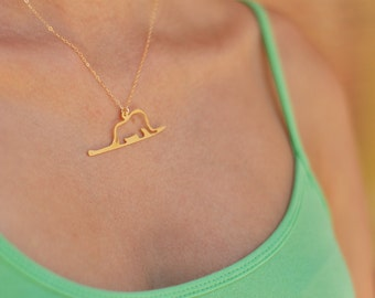 Little Prince necklace , Gold Le Petit Prince Jewelry , Elephant in a snake Charm