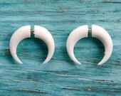 Fake Gauge Earrings Pincher Earrings Mini Hook Tribal Earrings - Fake Gauges Plugs - FG092 B G1