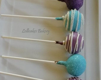 Birthday Party Cake Pops Made to Order with High Quality Ingredients, 1 Dozen Cake Pops