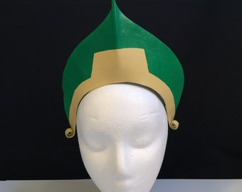 Toph Bei Fong Cosplay Headpiece GREEN Gold Headpiece Toph Bei Fong Fire Nation Costume Comicon Convention Halloween Costume Anime costume