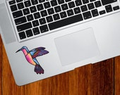 "CLR:TP - Hummingbird Stained Glass Style Vinyl Decal for Trackpad | Tablet © 2016 YYDC (3.5""w x 3""h) (Color Choices Available)"