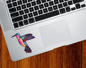"""CLR:TP - Hummingbird Stained Glass Style Vinyl Decal for Trackpad 