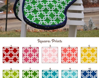 MADE TO ORDER Squares Padded Saddle Carrier Bag Many Colors