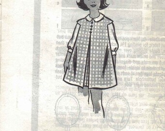 Vintage Dress Patterns for Girls, Kids Blouse and Jumper Pattern, Marian Martin Vintage Mail Order Sewing Pattern, Size 8