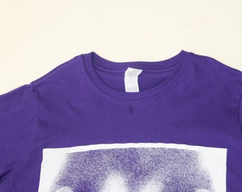 Boobs Tshirt  TITS shirt - Viv Westwood- really Free the Nipple Tee- Seditionaries Punk - Purple Xray Inverted print-womens fitted shirt