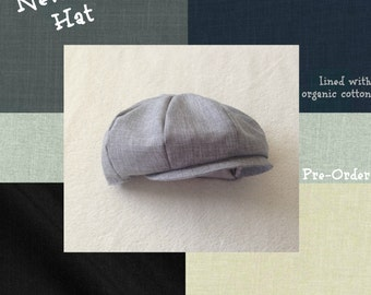 Baby Boy Hat, Toddler Boy Hat, Ring Bearer, Newsboy Hat, Baby Hat, Baby Boy Prop, Infant Hat, Boys Cap, Baby Boy Clothes, Toddler Boy Hat
