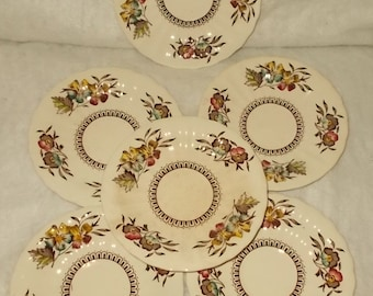 Wade England Meadow Saucers Six Wade Meadow Cup Saucers Planter Pot Under Plates Vintage Dinnerware Replacements