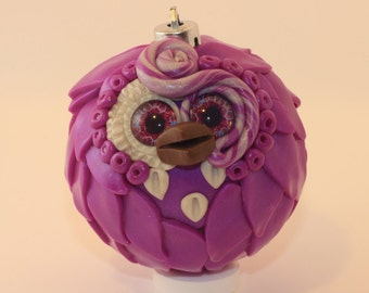 Quinn - Polymer Clay Owl Ornament