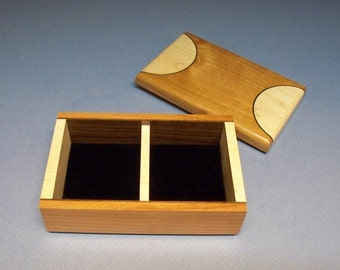 Desk Organizer Box, Basketball Court Looking Top, Maple & Mahogany Keepsake Box, Sports Box, Handmade in the USA
