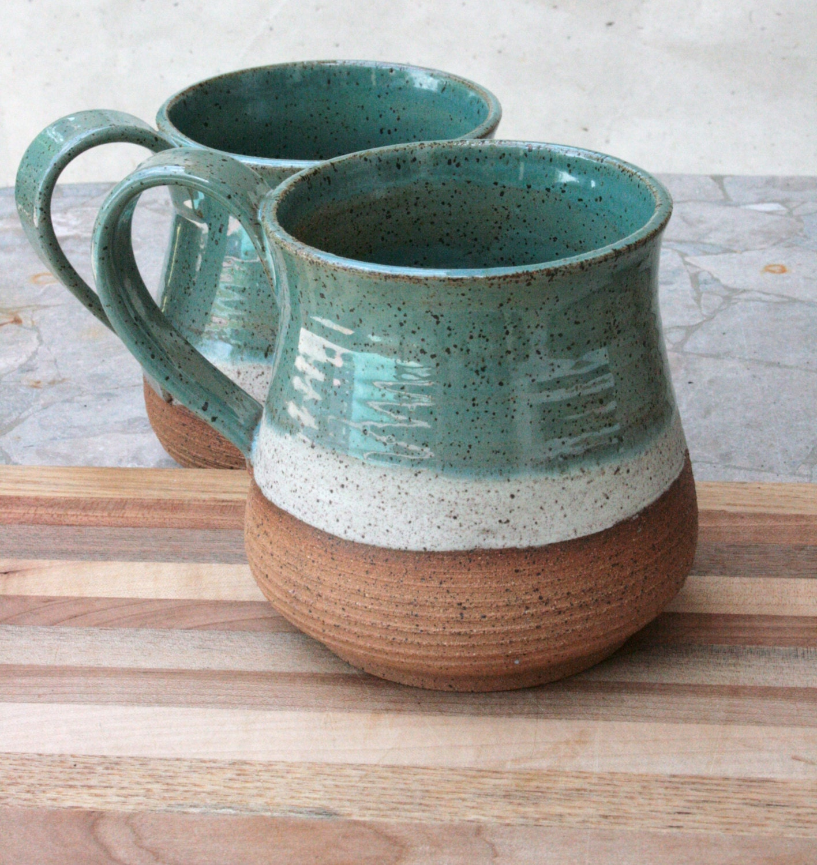 large coffee mug rustic 24oz cup speckled by earthformsbymarie