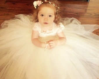 Lilly Dress,,,Toddler  Lace &Tulle Dress, Baby Lace Dress, Princess Dress, Special Occasion Dress, Flower Girl Dress, Birthday Dress
