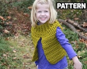 CROCHET PATTERN - Camryn Vest Crochet Pattern -  Toddler, 4-6 Years, 7-12 Years, Adult S/M, Adult L/XL - Sell What You Make