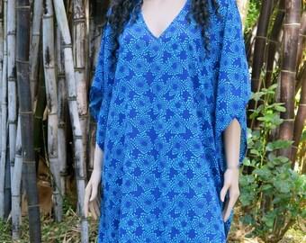Blue Kaftan, Cover up, Summer Dress