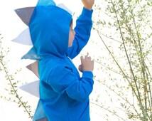 Dinosaur Hoodie - Blue Dino Hoodie - Dinosaur Sweatshirt - Dino Costume -Dress Up Clothes - Dino Play Clothes -Birthday Gift -Dinosaur Party