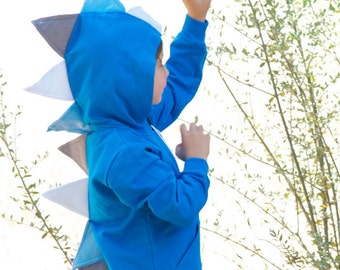 Dinosaur Hoodie-Royal Blue Dinosaur Sweater-Dinosaur Birthday Outfit-Dinosaur Costume-Dinosaur Birthday Gift-Dinosaur Party