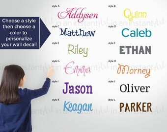Personalized Wall Decals Custom Name Design | Nursery and Children's Room Interior Designs | Easy Application | In An Instant Art 012
