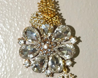 SNOW BLOSSOM Tree Jewelry Christmas Ornament Snow Snowflake Flower