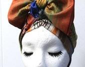 Rainbow Striped Silk Headwrap