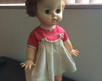 """Vintage 18"""" doll marked 4465 with 3 under that number"""