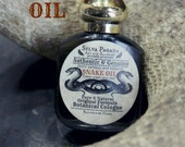 Natural perfume - dark amber clove cedarwood vetiver- SNAKE OIL - 1/2  ounce roller bottle