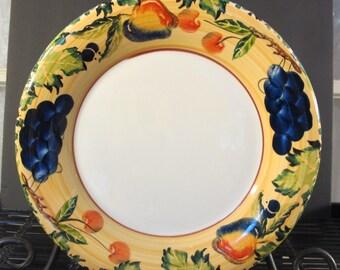"""Vintage 90's Dansk Fall Harvest large rim charger dinner plate 11 1/2"""""""