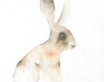 Hare Original Watercolor Painting