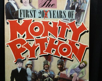 """The First 200 Years of Monty Python by Kim """"Howard"""" Johnson ~ Vintage 1989 British Comedy Paperback Book"""