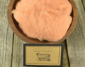 Soft Peach - Needle Felting Wool  - Wet Felting Wool-Skin Flesh Tone Wool, Doll Wool