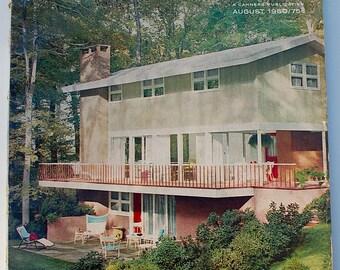 Practical Builder vintage midcentury modern design decorating magazine 1960