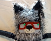 Wolf in Maroon Glasses