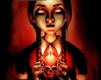 Zombie Wednesday Art Poster print by Marcus Jones