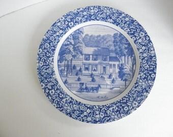 Blue Floral Victorian Homestead Hallmark Decorative Dinner Plate