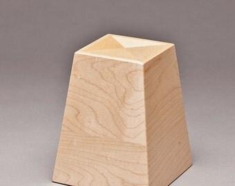Cremation keepsake - Maple Obelisk keepsake