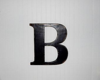 Large wood letter b etsy for Big wooden letter b