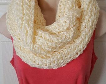 Cowl infinity loom knit scarf