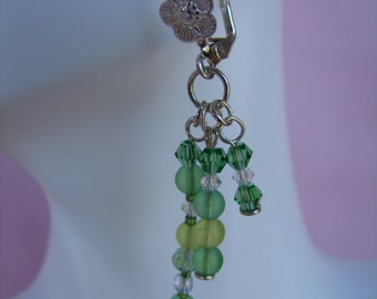 Dangle Green Earrings