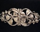 Flower Vintage buckle, Large clasp closure