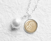 Personalized Initial Necklace, Flower Girl Necklace, Bridesmaid Gift, Flower Girl Gift, Bridesmaids Jewelry, Wedding Party, N173b